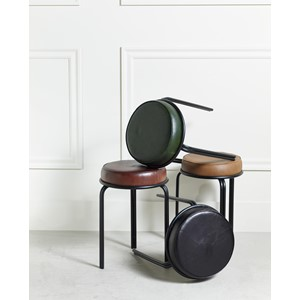 DURHAM STOOL BLACK