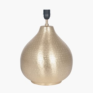 SOUK TABLE LAMP HAMMERED BRASS