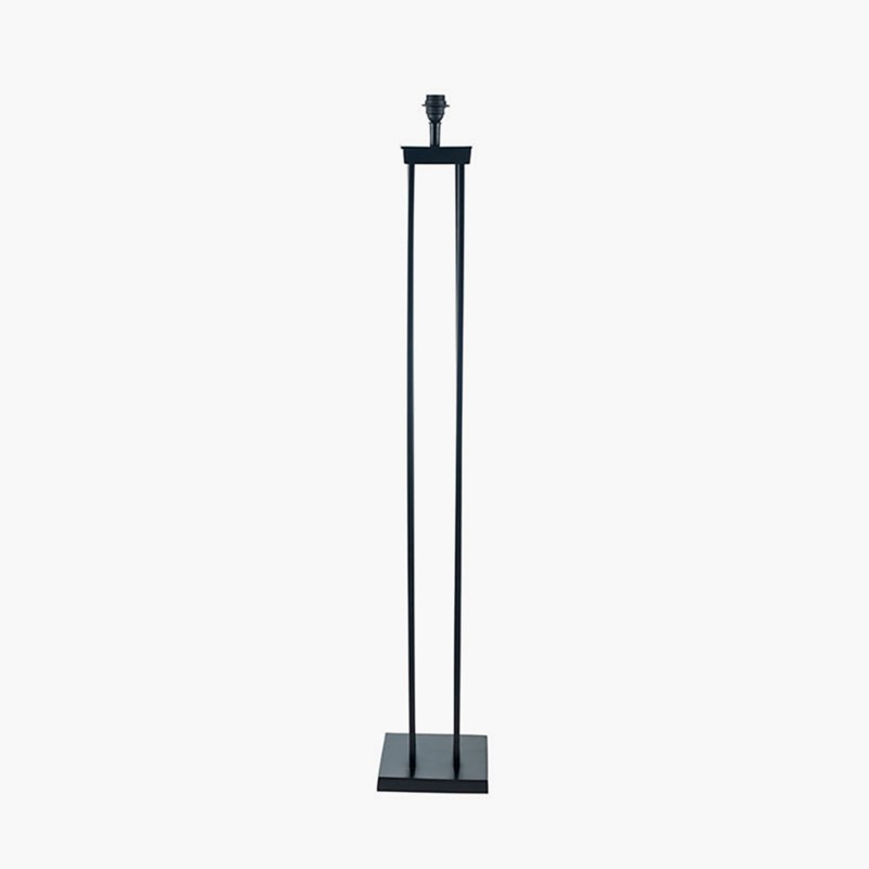 Matt Black Metal Four Post Floor Lamp Trend Collection As