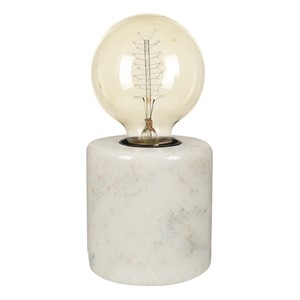 MARBLE TABLE LAMP WHITE S