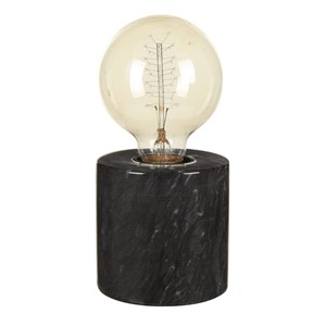 MARBLE TABLE LAMP BLACK S