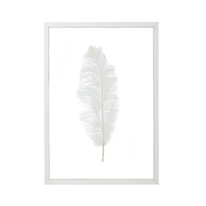 SYBIL FRAME WITH FEATHER WHITE