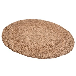 WOVEN LIGHT BROWN WATER HYACHINT ROUND RUG