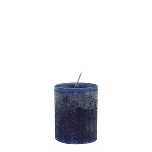DANIEL CANDLE Ø7X10 DARK BLUE