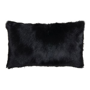 GOAT FUR PILLOW BLACK 50x30