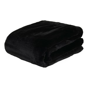 LYALL FUR PLAID BLACK 180x140