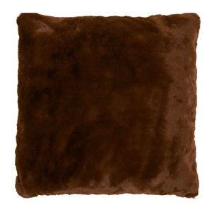 LYALL FUR PILLOW BROWN 50x50