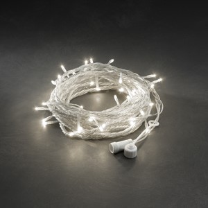 Lysslynge 100 LED varmhvit transparent kabel