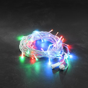 Lysslynge 100 LED farget transparent kabel
