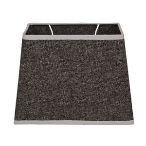 OXFORD COTTON SHADE RECTANGULAR DARK GREY S