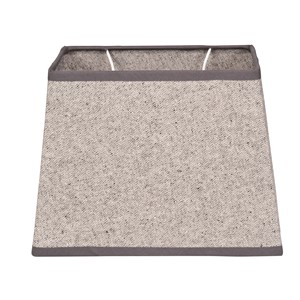 OXFORD COTTON SHADE RECTANGULAR LIGHT GREY L