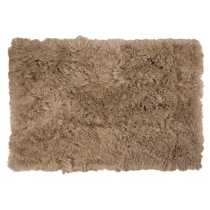 TIBETAN LAMB FUR CARPET BEIGE 240X170