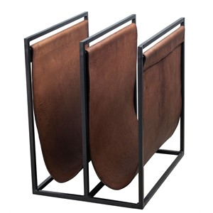 FREEMAN MAGAZINE HOLDER M LIGHT BROWN