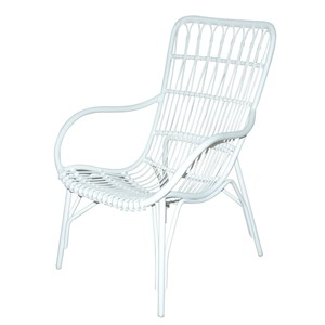 PALM BEACH CITY DINING ARMCHAIR WHITE