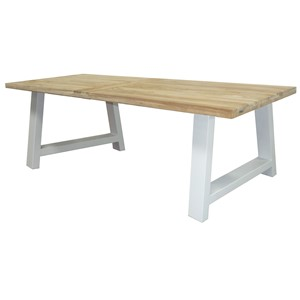 PALM BEACH DINING TABLE 240X100 WHITE