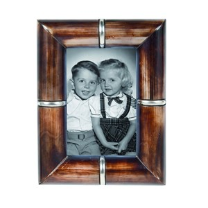 HORN PHOTOFRAME RING BROWN 10X15 CM