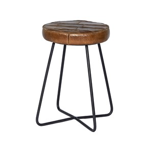 EMPIRE STOOL ROUND COGNAC 41X41X45
