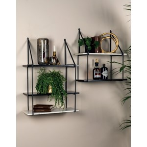 DOUBLE SHELF BLACK