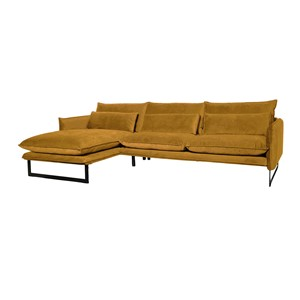 MILAN LOUNGE SOFA LEFT SEVEN OCRE