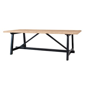 BRUGGE DINING TABLE BLACK LEGS 240X100X76