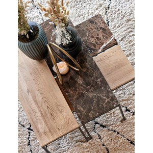 WESTFORD COFFEE TABLE MARBLE BROWN 90X30X40